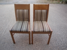 RDC020LOBRST Light Oak Frame Restaurant Chairs with Striped Upholstery