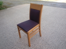 RDC05LOPP Light Oak Frame Restaurant Chairs with Purple Fabric Upholstery