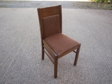 RDC08OFBR Oak Finish Frame Restaurant Chairs with Brown Fabric Upholstery