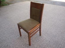 RDC08OFGST Oak Finish Frame Restaurant Chairs with Striped Upholstery