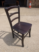 LBDC010DO Ladder Back Dining Chairs in Dark Oak Finish