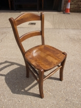 RDC05BBOF Bar/Restaurant Dining Chairs in Oak Finish