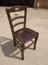 LBDC029DO Ladder Back Dining Chairs in Dark Oak Finish