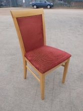 RDC024RDU Restaurant Dining Chairs with Red Fabric Upholstery