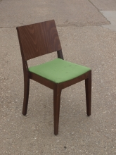 RDC017GR Stackable Restaurant Dining Chairs with Green Fabric Upholstery