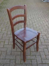 LBDC017OF Ladder Back Bar/Restaurant Chairs in Oak Finish