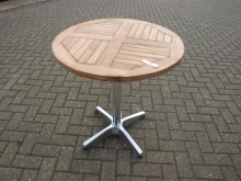 ODT025RTK Ex-Showroom Round Outdoor Pedestal Tables with Teak Top