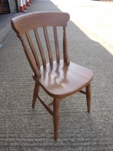 SLPC04OF Slat Back Pub Chairs in Oak Finish