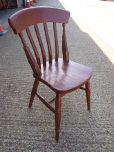 SLPC04MF Slat Back Pub Chairs in Mahogany Finish