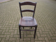 RDC04DOAK Restaurant Dining Chair in Dark Oak