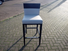 EXSHBS01GLDL Ex-Showroom High Bar Stool with Darkwood Legs