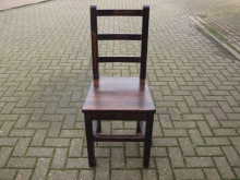 DWLBC011 Dark Wood Ladder Back Chair