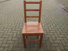 MOLBC03 Medium Oak Ladder Back Chair