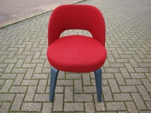 RETROSCRF Retro Style Chair in Red Fabric