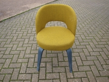 RETROSCGYF Retro Style Chair in Green/Yellow Fabric