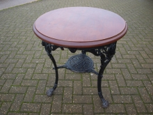 TL03BRT Three Legged Cast Base Round Table
