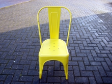 RETISC012DY Retro Industrial Style Chair in Distressed Yellow