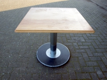 LWT02MPB  Light Wood Table with Metal Pedestal Base