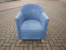 TUB050BU Tub Chair in Blue Upholstery