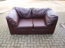 TS011BLS Two Seater Brown Leather Sofa