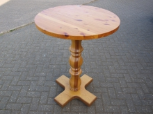 LWPOT01  Light Wood Poseur Table