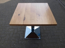 LWT05CB Light Wood Table with Chrome Base