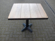ME10WT Metal Edged Wooden Table with Heavy Duty Base