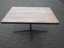 ME4WT Metal Edged 4 Seater Wooden Table