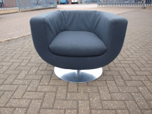 GST03 Swivel Tub Chair with Grey Upholstery