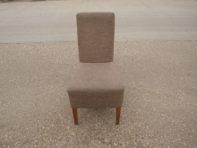 RCB27 High Back Dining Chair in Beige Upholstery