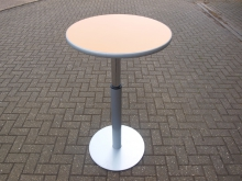 EPT1 Extending Dining / Poseur Table with Orange Top