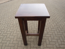 DWPT1 Dark Wood Poseur Table with 60cm Top