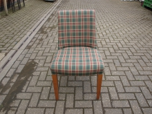 TRC30 Fully Upholstered Chair in Tartan Fabric