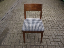 RBW18 Restaurant / Dining Chair with Black and White Patterned Upholstery