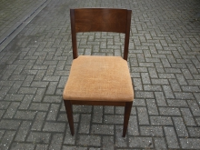 RDCG6 Restaurant / Dining Chair with Gold Upholstery
