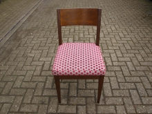 RDCS7 Restaurant / Dining Chair with Red Spotted Fabric