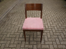 RDRP11 Restaurant / Dining Chair with Red Patterned Upholstery