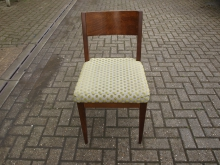 RCGS7 Restaurant / Dining Chair with Green Spotted Fabric