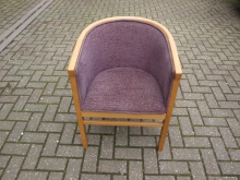 TUBPU Tub Chair with Purple Upholstery