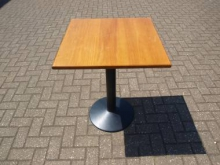 CT15SQ Pedestal Table with 60cm Square Cherry Top