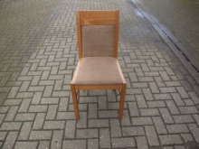 RDCLB23 Restaurant Dining Chair with Light Brown Fabric Upholstery