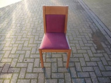 RDC20 Restaurant Dining Chair with Red Fabric Upholstery