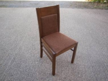 RDC08BR Restaurant Dining Chair with Brown Fabric Upholstery