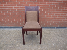 RDC19BR Restaurant Dining Chair with Brown Fabric Upholstery
