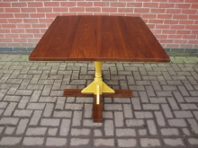 PRYB3 Four Seater Table with Yellow Pedestal Base. 90cm Top