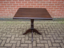 DWRT8 Two Seater Pedestal Table in Dark Wood