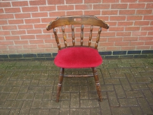 CCRU5 Captains Chair with Red Upholstered Seat
