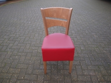 RBC2 Restaurant Chair with Red Leather Upholstery