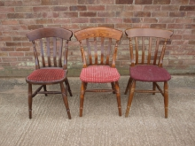 SLP200 Slat Back Chairs with Mixed Upholstery