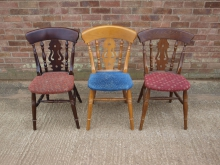 FDC100 Fiddle Back Chairs with Mixed Upholstery